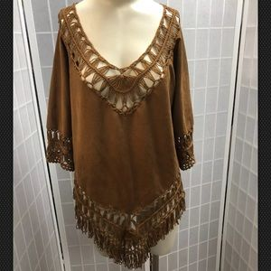 Ya Los Angeles, blouse, brown, size S.: